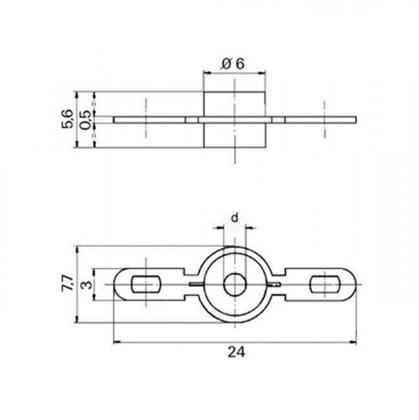 Keramik Lötstützpunkt Ceramic Soldering Terminals Technische Zeichnung f000100_f0000101