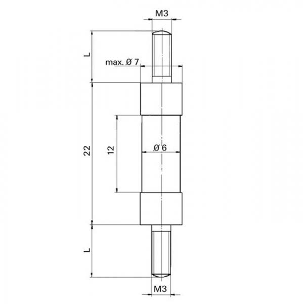Distanzisolator Distance Insulator Technische Zeichnung STA10100