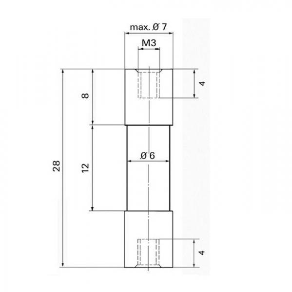Distanzisolator Distance Insulator Technische Zeichnung sto10110