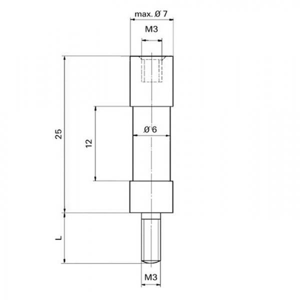 Distanzisolator Distance Insulator Technische Zeichnung sta10120