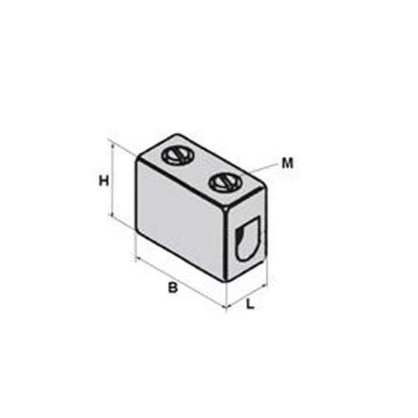 Keramik-Klemme Clamp Technische Zeichnung p4131