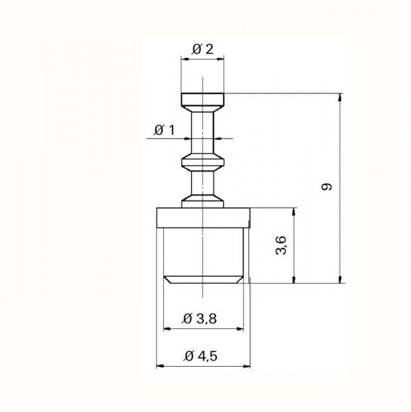 Keramik Lötstützpunkt eindrückbar Ceramic Soldering Terminals impressable-TZ- tfs07110