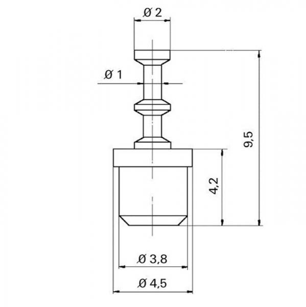 Keramik Lötstützpunkt eindrückbar Ceramic Soldering Terminals impressable -TZ- tfs07140