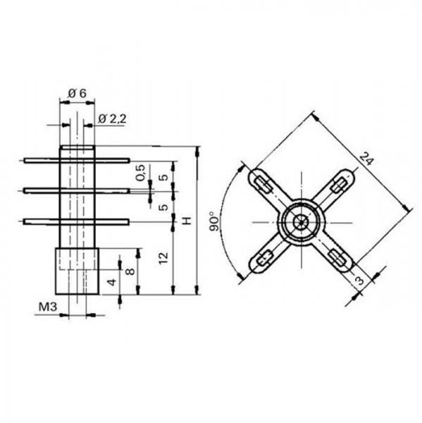 Keramik Lötstützpunkt Ceramic Soldering Terminals Technische Zeichnung fga102130