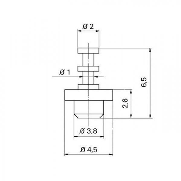 Keramik Lötstützpunkt eindrückbar Ceramic Soldering Terminals impressable -TZ- tfs07130