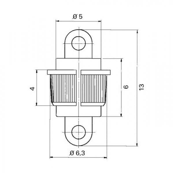 Lötdurchführung  grommet Technische Zeichnung kdo11010