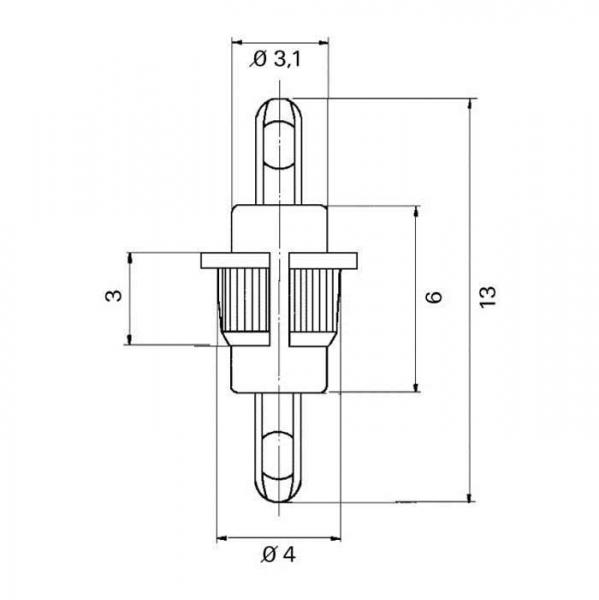 Lötdurchführung  grommet Technische Zeichnung kdo11040