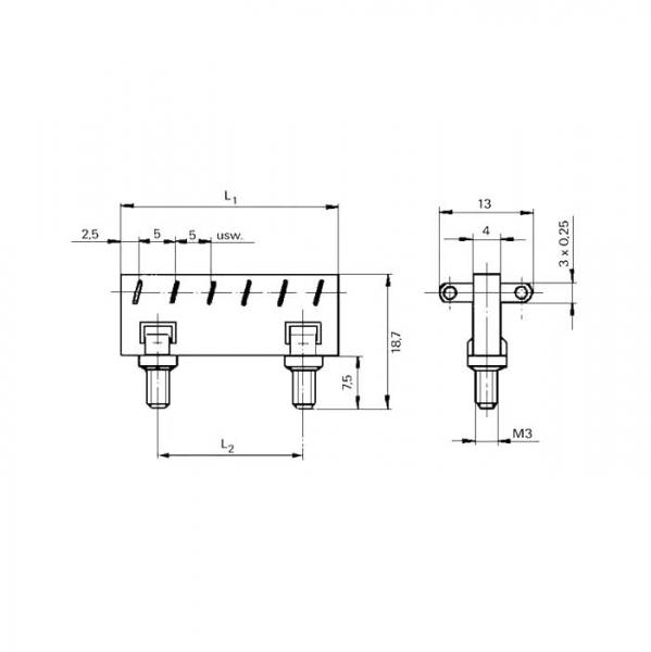 Lötleisten Solder Strips Technische Zeichnung ll021030