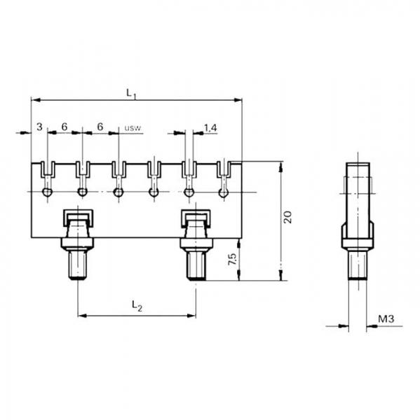 Lötleisten Solder Strips Technische Zeichnung ll0230230