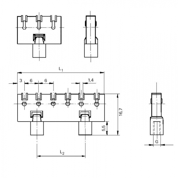 Lötleisten Solder Strips Technische Zeichnung ll024230