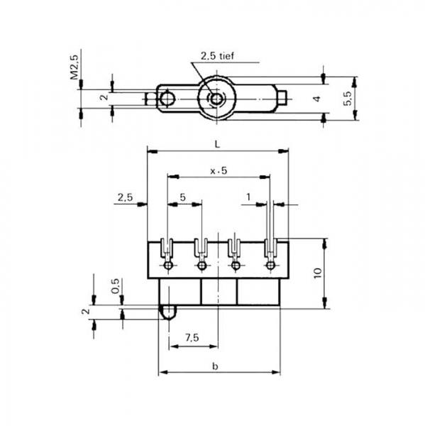 Lötleisten Solder Strips Technische Zeichnung ll024440