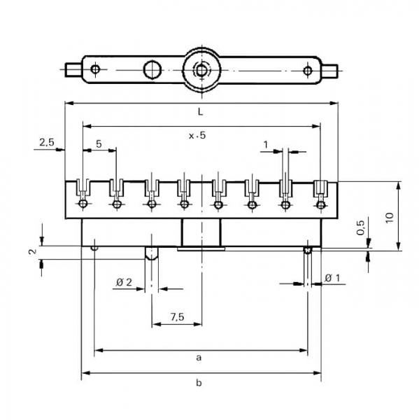 Lötleisten Solder Strips Technische Zeichnung ll024480