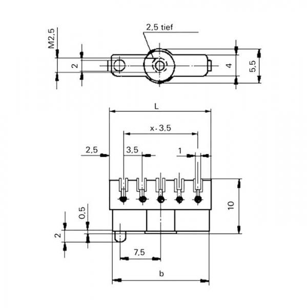 Lötleisten Solder Strips Technische Zeichnung ll024550