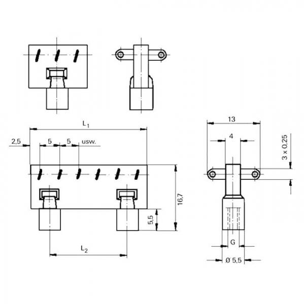 Lötleisten Solder Strips Technische Zeichnung ll027030