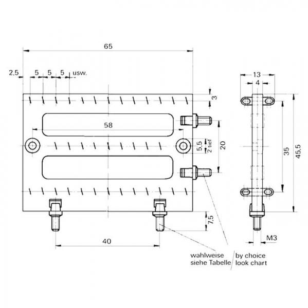 Lötleisten Solder Strips Technische Zeichnung ll029180