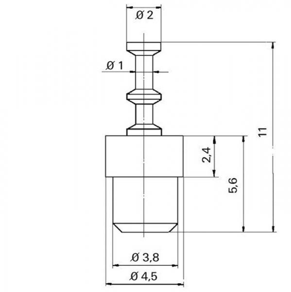 Keramik Lötstützpunkt eindrückbar Ceramic Soldering Terminals impressable -TZ- tfs07160